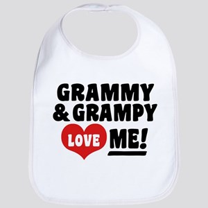 Grammy and Grampy Love Me Bib