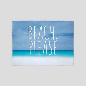 Beach please funny tropical hipster 5'x7'Area Rug