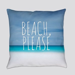 Beach please funny tropical hipste Everyday Pillow