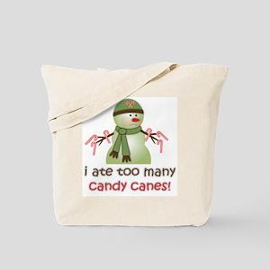Sick Candy Cane Snowman Tote Bag