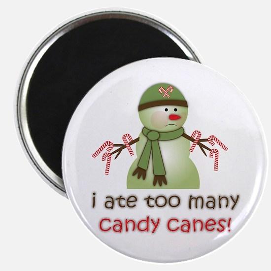Sick Candy Cane Snowman Magnet
