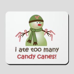 Sick Candy Cane Snowman Mousepad
