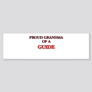 Proud Grandma of a Guide Bumper Sticker