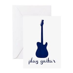 Mens guitars greeting cards cafepress m4hsunfo