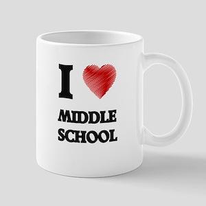 I Love Middle School Mugs