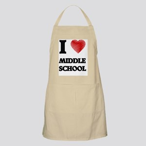 I Love Middle School Apron