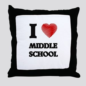 I Love Middle School Throw Pillow