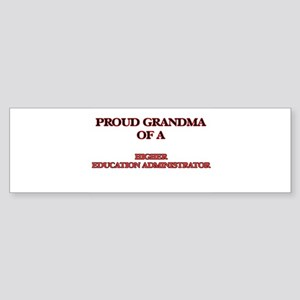 Proud Grandma of a Higher Education Bumper Sticker