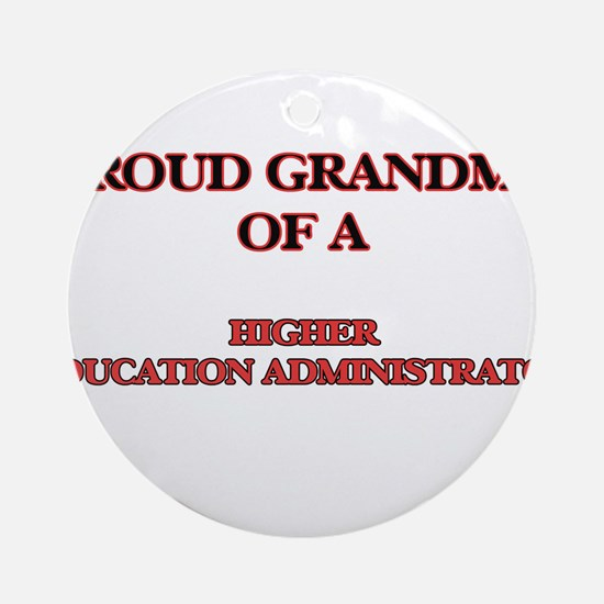 Proud Grandma of a Higher Education Round Ornament