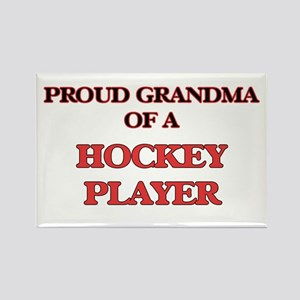 Proud Grandma of a Hockey Player Magnets