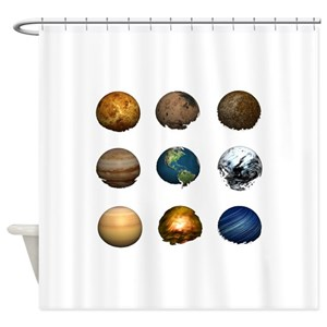 Astronomy Pluto Shower Curtains