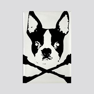 Boston Terrier Crossbones Rectangle Magnet