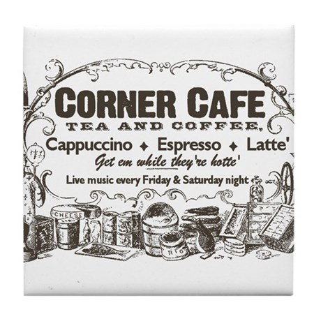 Vintage Coffee Retro Poster Tile Coaster