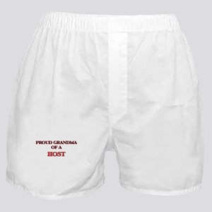 Proud Grandma of a Host Boxer Shorts