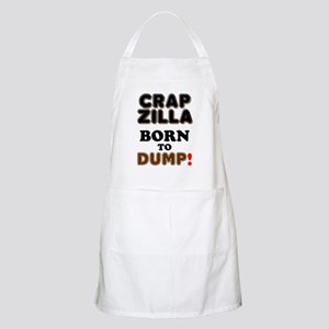 CRAPZILLA - BORN TO DUMP! Light Apron