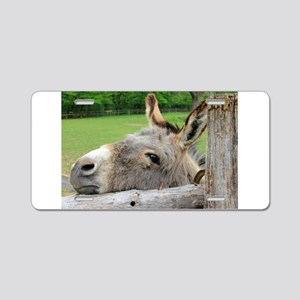 Donkey Just Wants a Hug Aluminum License Plate