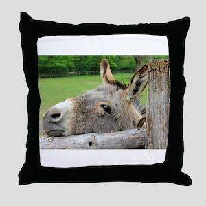 Donkey Just Wants a Hug Throw Pillow