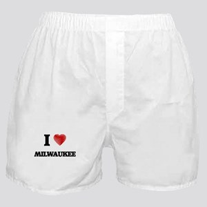 I Love Milwaukee Boxer Shorts