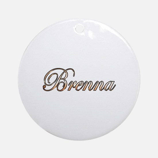 Cute Brenna Round Ornament