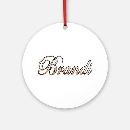 Cute Brandi Round Ornament
