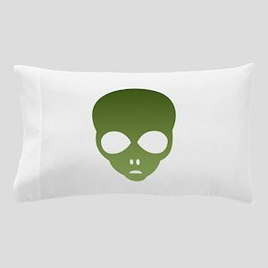 Extraterrestrial Alien Face Pillow Case