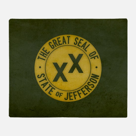 State of Jefferson - Tea Stained eff Throw Blanket