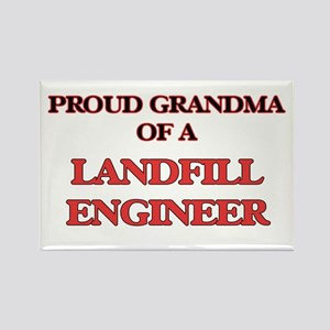 Proud Grandma of a Landfill Engineer Magnets