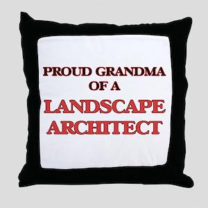 Proud Grandma of a Landscape Architec Throw Pillow