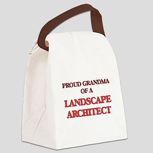 Proud Grandma of a Landscape Arch Canvas Lunch Bag