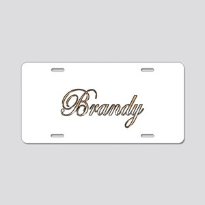 Gold Brandy Aluminum License Plate