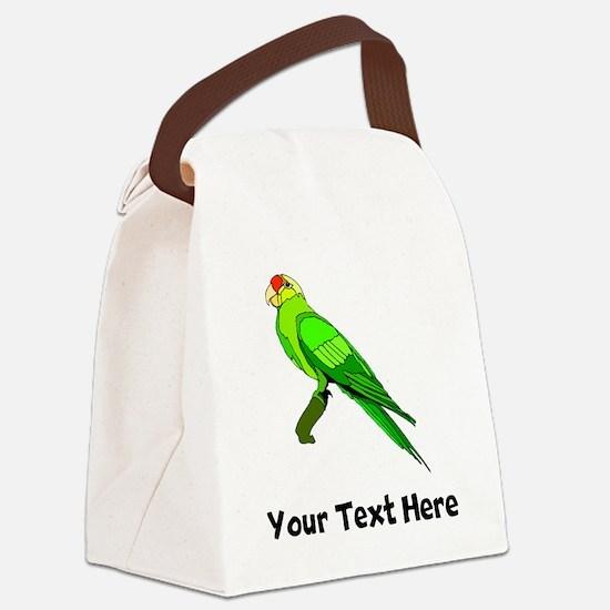Green Conure Bird (Custom) Canvas Lunch Bag
