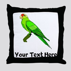 Green Conure Bird (Custom) Throw Pillow