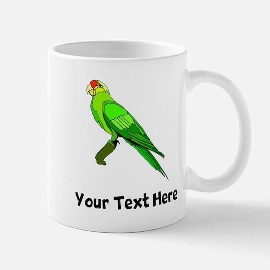 Green Conure Bird (Custom) Mugs
