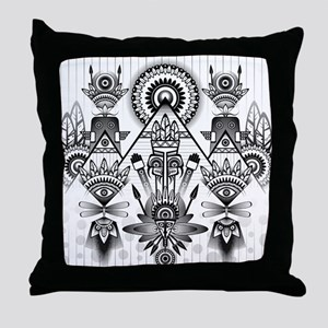 Abstract Ancient Throw Pillow