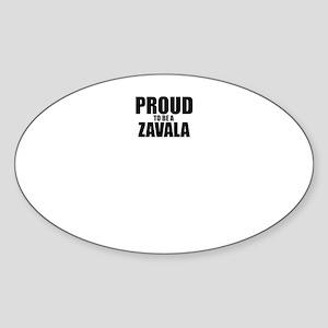 Proud to be ZAVALA Sticker