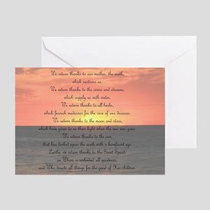Prayer for Giving Thanks Greeting Card