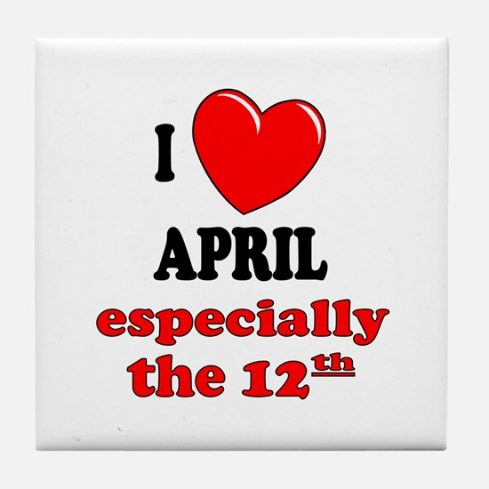 April 12th Tile Coaster