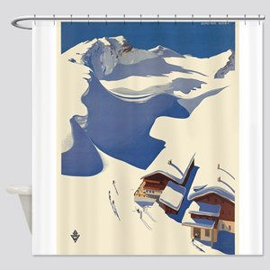 Vintage poster - Austria Shower Curtain