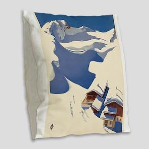 Vintage poster - Austria Burlap Throw Pillow