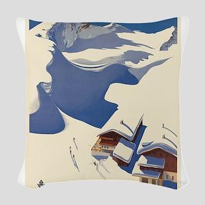 Vintage poster - Austria Woven Throw Pillow