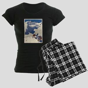 Vintage poster - Austria Women's Dark Pajamas