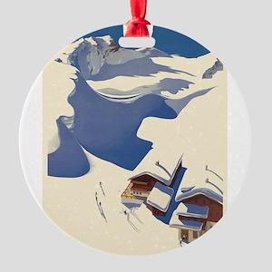 Vintage poster - Austria Round Ornament