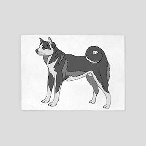 Akita Dog 5'x7'area Rug