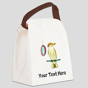 Cockatiel with Mirror (Custom) Canvas Lunch Bag
