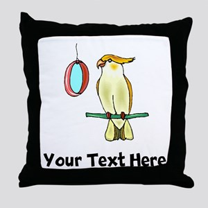 Cockatiel with Mirror (Custom) Throw Pillow