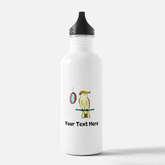 Cockatiel with Mirror (Custom) Water Bottle