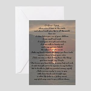 O Great Spirit Greeting Card