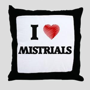 I Love Mistrials Throw Pillow