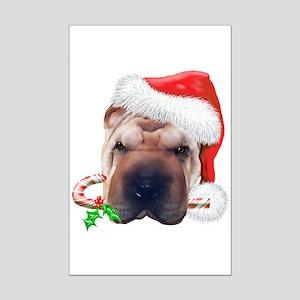Shar Pei Christmas Mini Poster Print