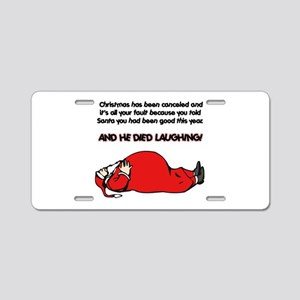 Christmas Cancelled Aluminum License Plate